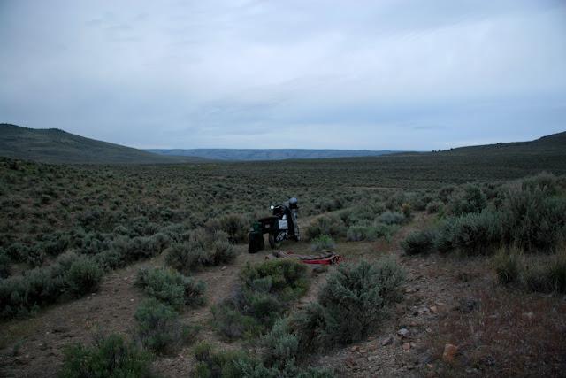 High desert campsite near Drewsey, Oregon