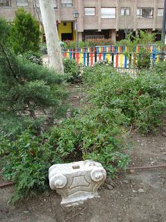 Un parque con restos misteriosos en Madrid