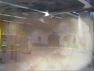 Evacuada unos minutos la estación de Callao por un incendio