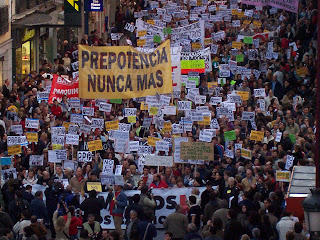 Manifestación anti parquimetros, 23 octubre, 19 horas.