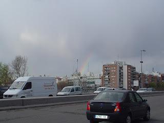 El arco Iris sobre la M-30