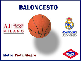 Baloncesto:  Aj milano- Real Madrid