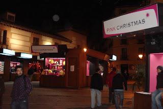 Pink Christmas en La Latina.