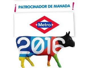Las vacas tambien están dentro del Metro