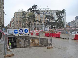 ¿Como van las obras de la Plaza de las Cortes?