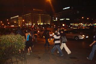 Manifestación ilegal en Madrid en protesta por las agresiones en Barcelona