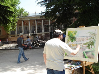 El parque del Capricho a través de pinturas
