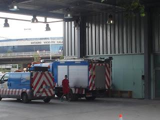 Los bomberos de la M-30