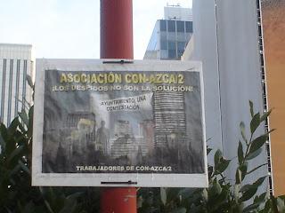 Trabajadores de AZCA contra los despidos