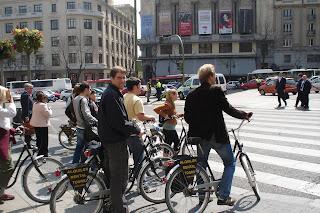 Marcha protesta a favor de la bici