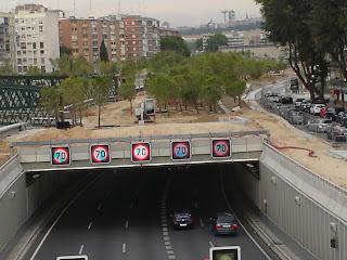 Madrid Río. Hoy y hace un año