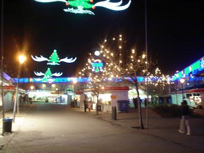Mercado navideño en la Plaza de Santo Domingo.