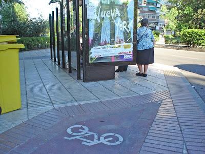 Más incongruencias de los carriles bici en Madrid