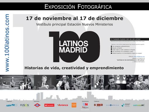 """Exposición """"100 Latinos"""" en la estación de Nuevos Ministerios"""
