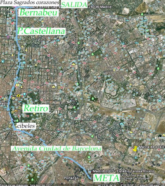 Recorrido San Silvestre Vallecana 2010