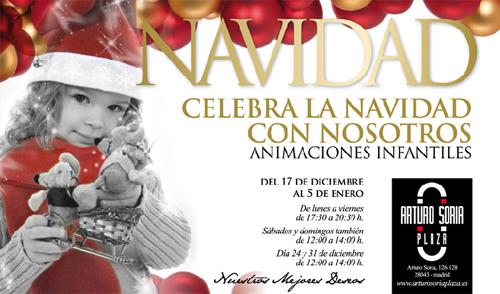 Navidad para niños en Madrid. Centro Comercial Arturo Soria .