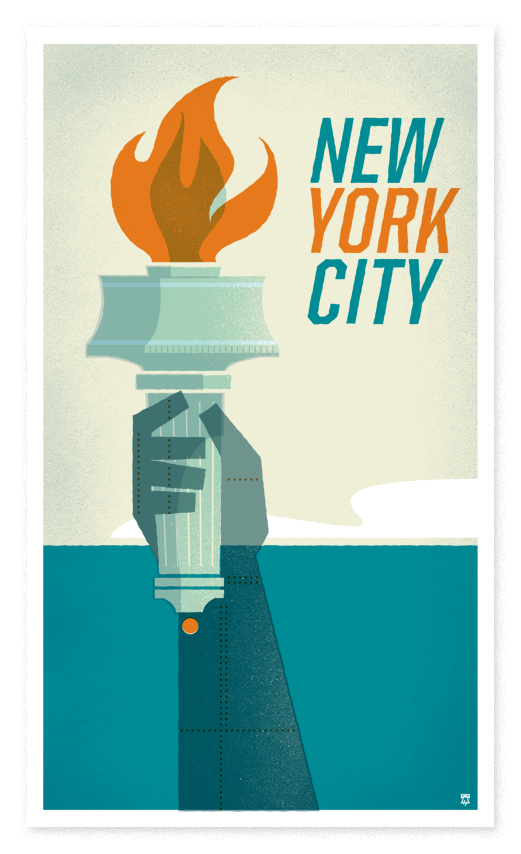 flyer goodness the heads of state retro travel poster cities featuring dc chicago seattle. Black Bedroom Furniture Sets. Home Design Ideas