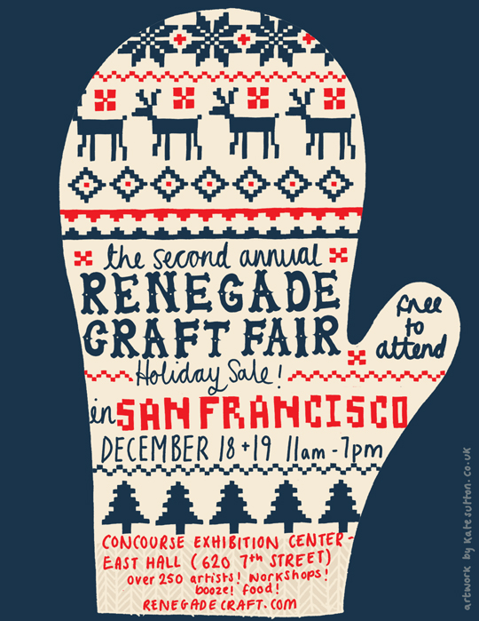 Flyer goodness renegade craft fair posters for Christmas classic art craft festival