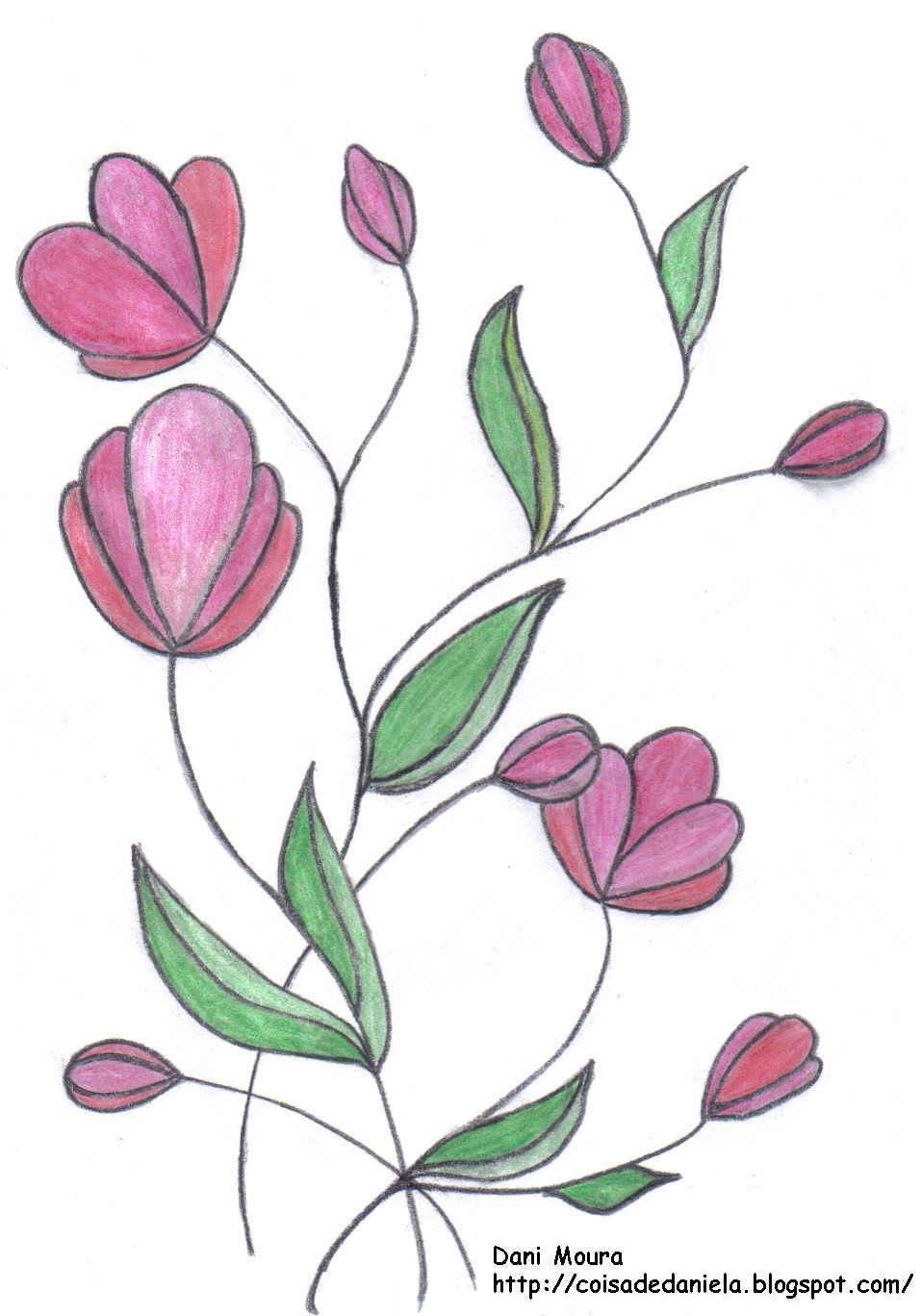 Pz C Desenho Flores