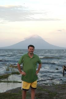 michael hodson at edge of ometepe island