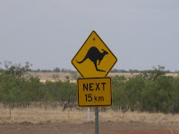 kangaroo warning sign australia next 15 kms