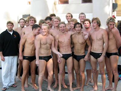 swim team naked at school