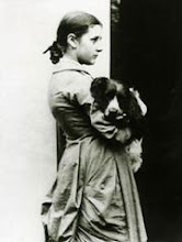 Beatrix Potter at 15 with her dog Spot~A trip through England to Hill Top Farm
