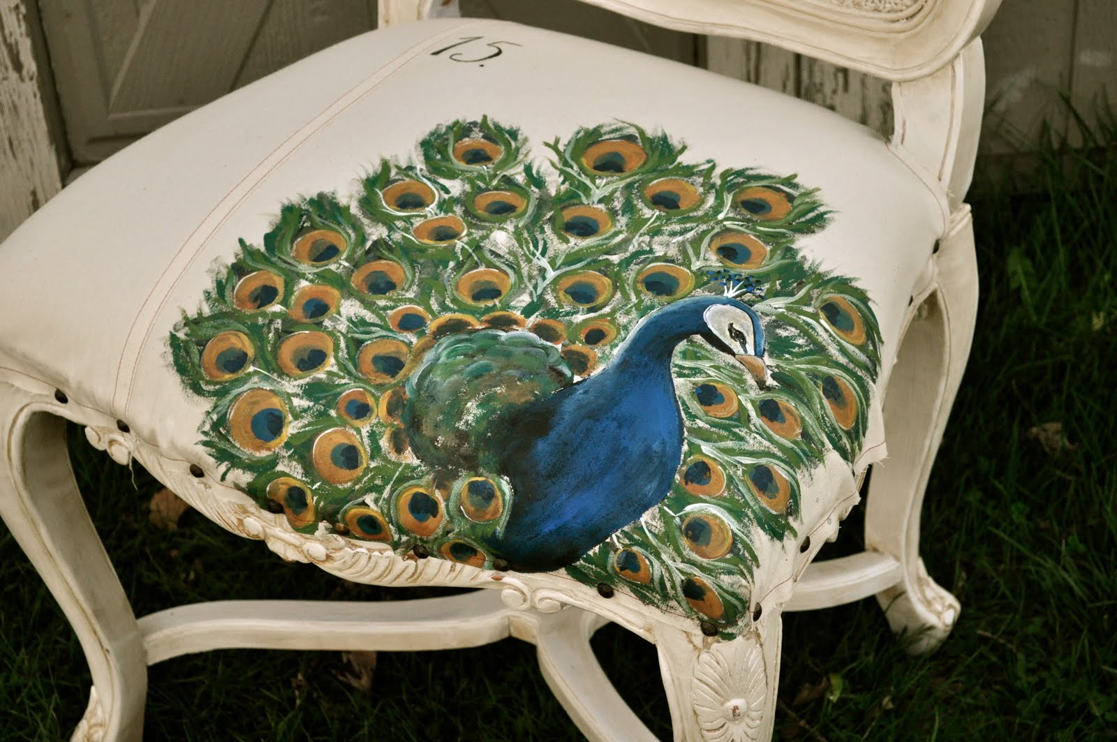 Hand-painted Peacock Chair ...The Basics For Painting Your