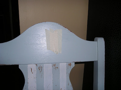 How to distress your furniture with masking tape