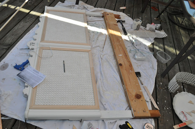 This headboard is getting an amazing painted furniture makeover!