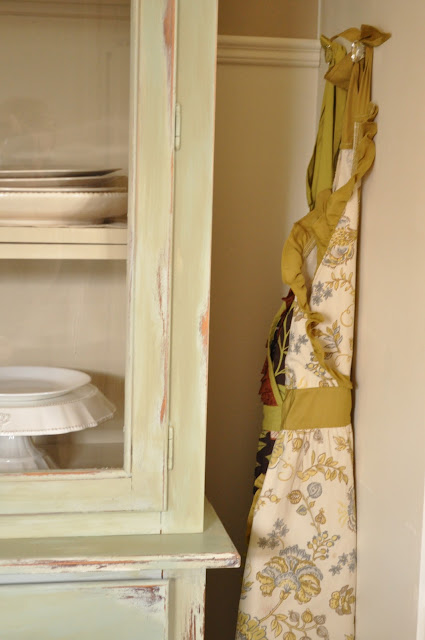 cabinet knobs as apron hangers