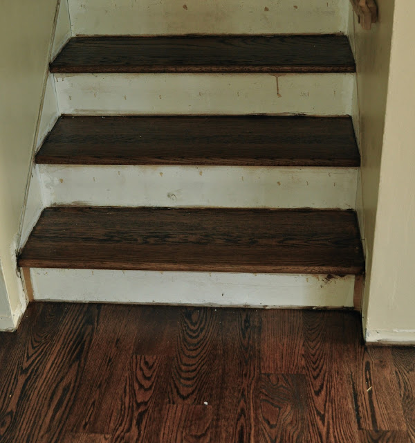stained treads and painted risers