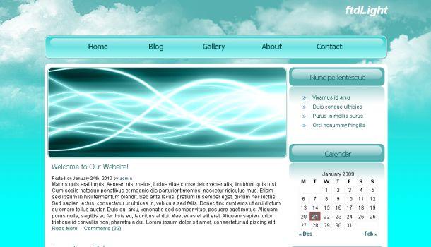 FtdLight Blue Free CSS Website Template