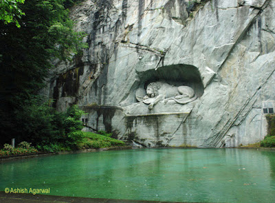 Photo of the Lion Monument in Lucerne