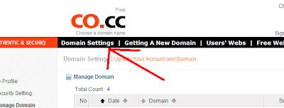 Cara Memperpanjang Gratis Domain Co.Cc