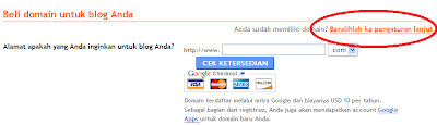 Setting Domain Co.Cc di Blogspot+Redirect