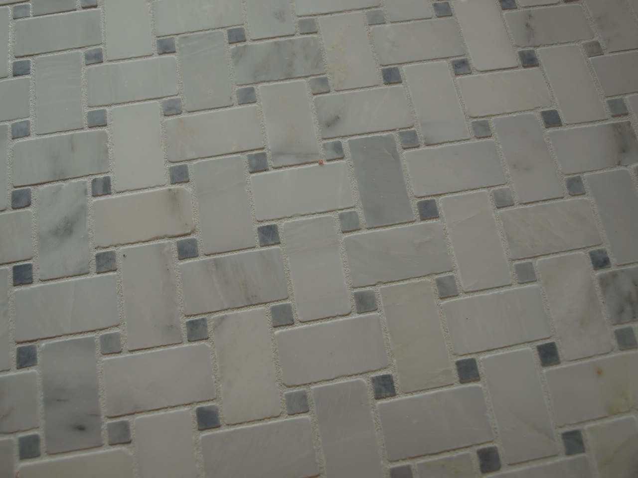 And The Shade Of White Grout Was Just A Tiny Bit Brighter Than Basketweave It Made All Pop Enough