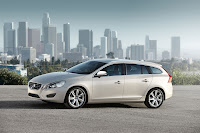 The new Volvo V60 sports wagon side