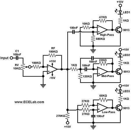 Simple Sound To Light Converter Schematic Diagram Audio