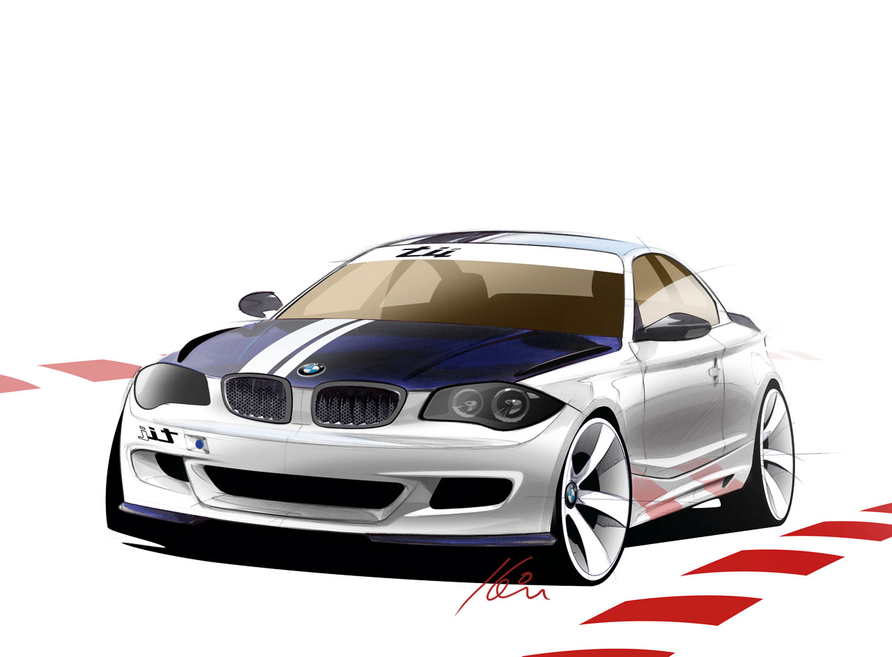 bmw concept 1 series tii sketch 1 lg