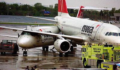 Imagen accidente de aviones