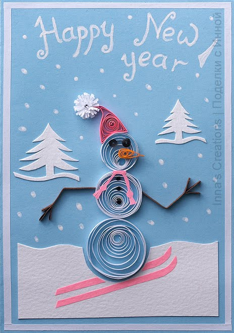 New Year Card: Homemade New Year Cards