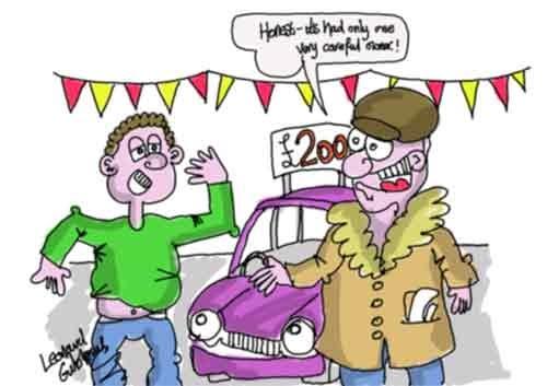 Talent Free: Hilarious Used car salesman Cartoon.