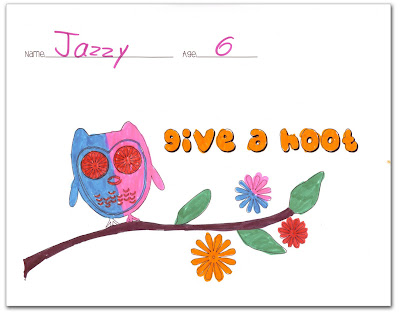 give a hoot colored - Winner #1 of the Soul Flower Coloring Contest