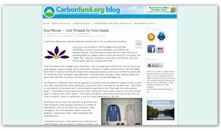 carbonfund soul flower blog - Carbonfund.org features Soul Flower