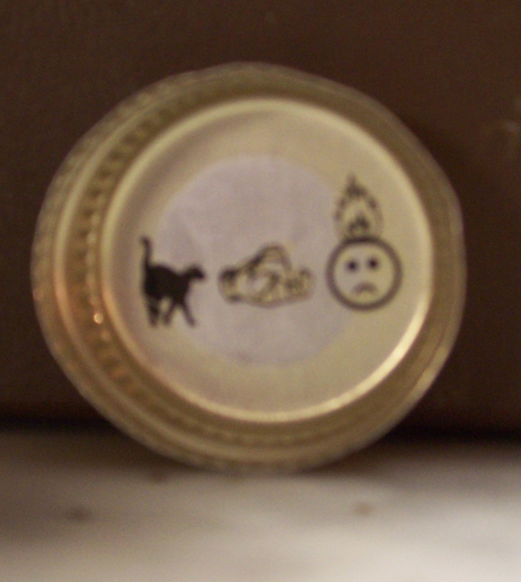 Mickey's Beer Cap Puzzle Answer Board: CALL FOR HELP