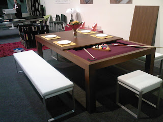 At The Just Opened Trade Fair In Luxembourg We Were Impressed By Ingenuity Of People Who Designed Multi Purpose Billiard And Dining Table