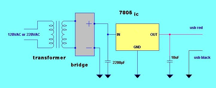 IPod Charger Simple Circuit Diagram