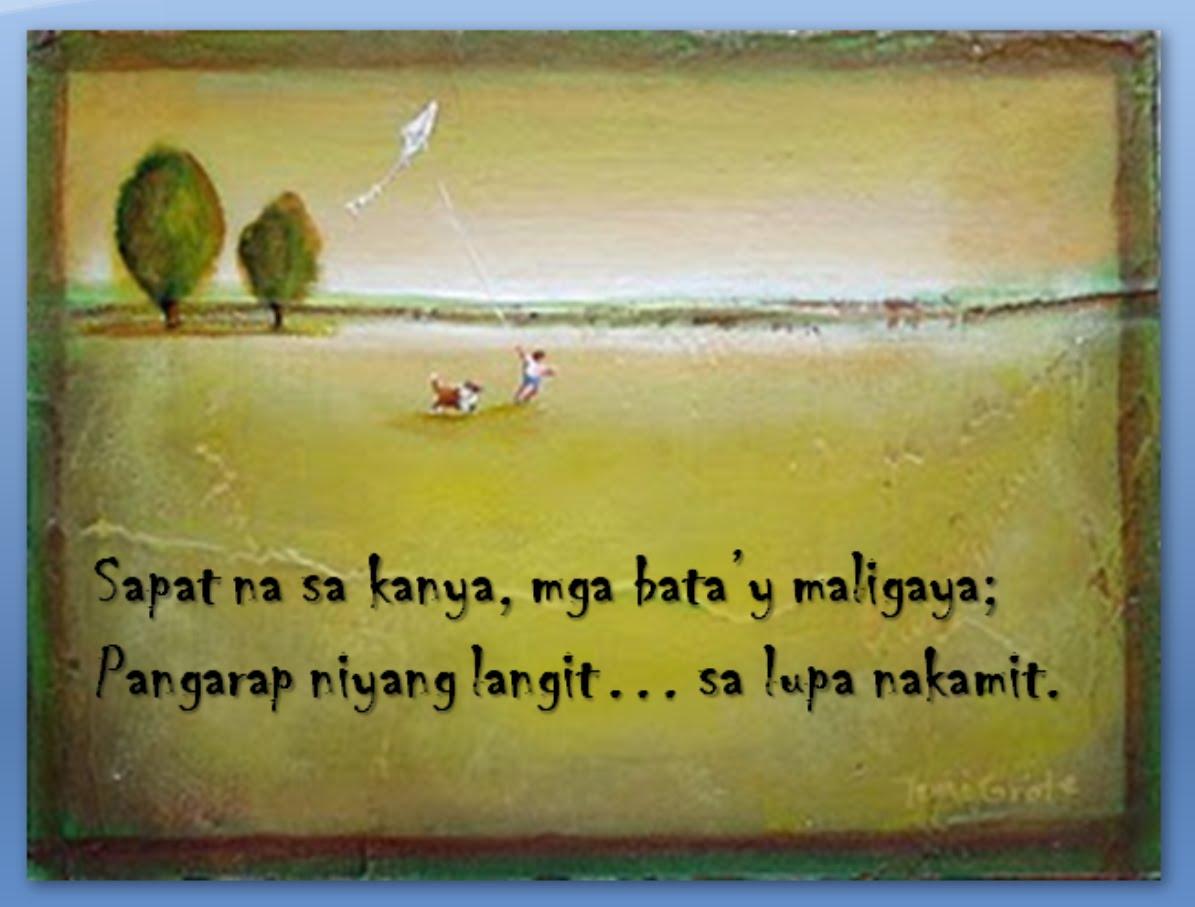 Tagalog declamation piece