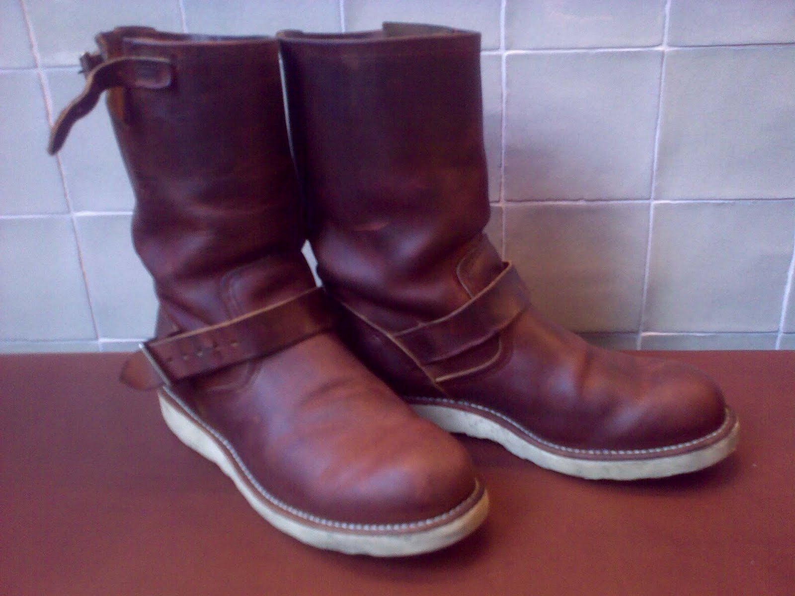 A Swan s Wing Dyed in Red  Mink Oil on Rough and Tough 6f6087100fe5e